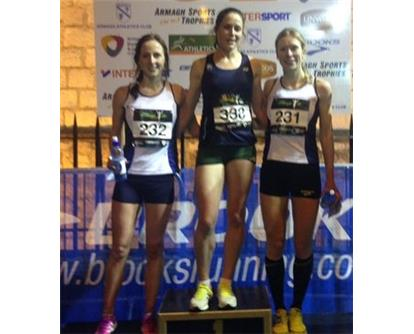 Armagh women's podium