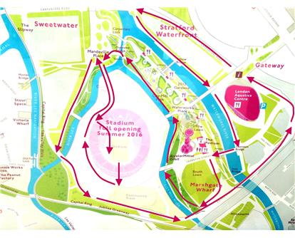 Diamond relays course map