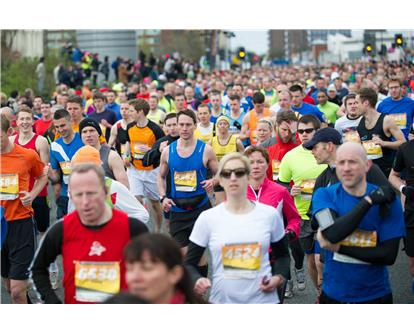 Manchester Marathon running crowd