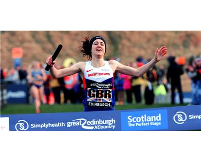 Laura Muir XC relay 2017