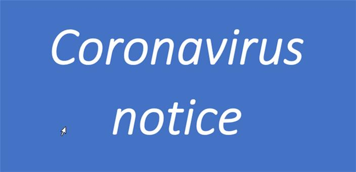 Coronavirus notice correct