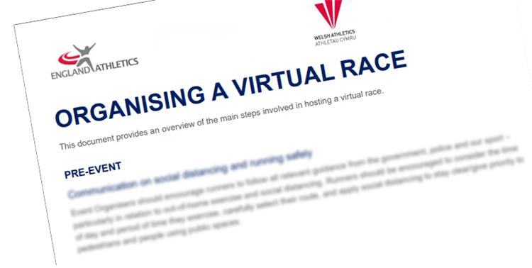 Virtual road race running coronavirus