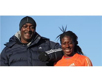 Lloyd Cowan and Christine Ohuruogu 2008
