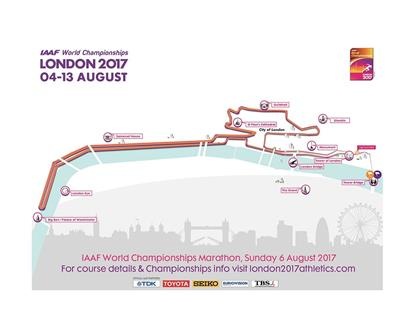 London 2017 marathon map