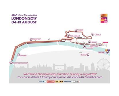 London 2017 marathon map