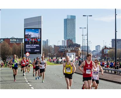 Manchester Half route