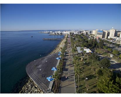 Aerial shot of Limassol 2017