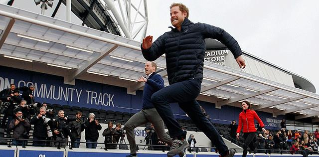 Prince Harry running - credit Virgin Money London Marathon