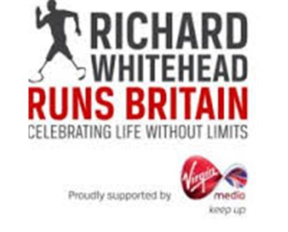Richard Whitehead runs britain