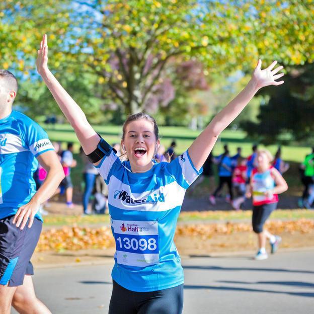 Royal Parks happy waterAid runner