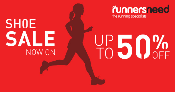 Up to 50% off Shoe Sale – now on at Runners Need!